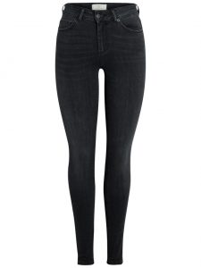 Pieces five delly skin denim dark grey lengte 30/32 €39,99