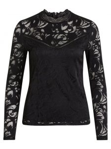 Vila vistacia lace top black €29,99