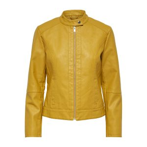 JDY dallas leather jacket golden spice €29,99