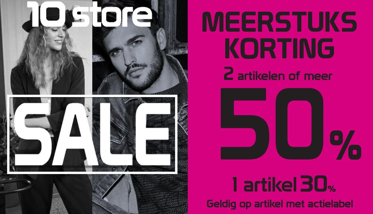 50% KORTING bij aankoop van 2 artikelen uit de SALE!