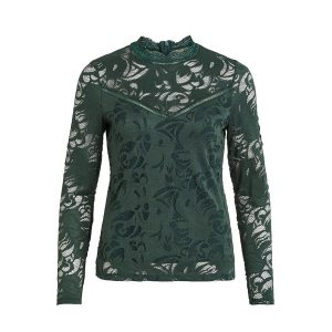 Vila vistasia lace top pine grove €29,99