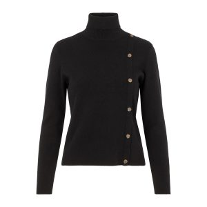 Pieces col pullover black €34,99