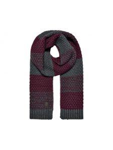 Only & Sons sjaal bordeaux/grijs €24,99