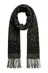 Pieces sjaal panter print army €19,99