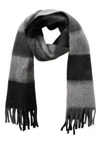 Pieces sjaal zwart/grijs €21,99