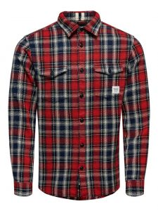 Only & Sons blouse geruit rood €39,99