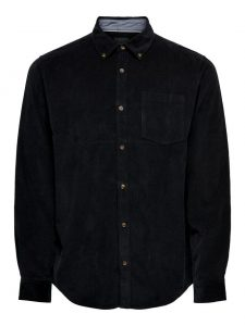 Only & Sons blouse corduroy zwart €34,99