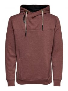 Only & Sons hoodie madderbrown €39,99
