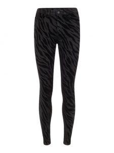 Pieces zebraprint broek zwart €34,99