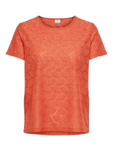 JDY lace t-shirt chili €12,99