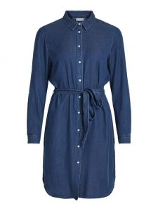 Vila vibista dress dark blue denim €49,99