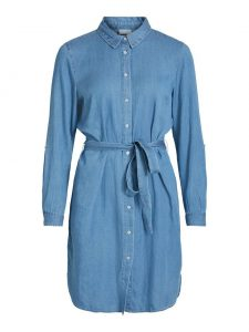 Vila vibista dress medium blue denim €49,99