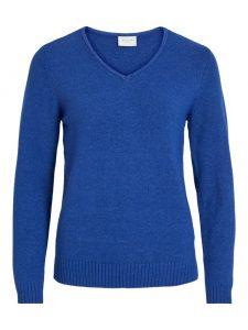 Vila viril v-neck pullover mazarine blue €26,99