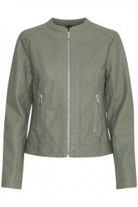 B.young leren jasje groen €49,95