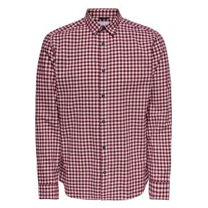 Only & Sons blouse geruit rood €24,99