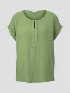 Tom Tailor top satijn groen €29,99
