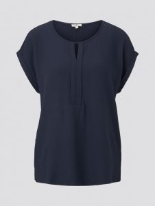 Tom Tailor top satijn blauw €29,99