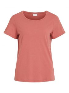 Vila t-shirt dusty cedar €16,99