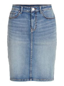 Vila felicia skirt light blue denim €29,99