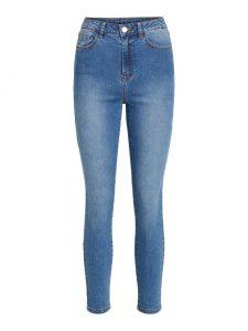 Vila high waist med blue denim €39,99 2 voor €69,99