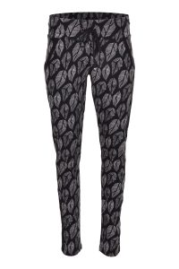 Zizo pantalon rafelli lips black €79,95