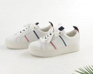Fabs sneaker streep rood/blauw €49,95
