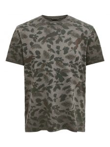 Only & Sons t-shirt antraciet €16,99