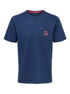 Only & Sons t-shirt blauw €19,99