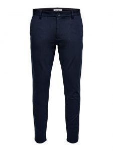 Only & Sons chino streep dark blue €39,99