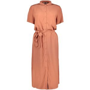 Pieces long dress copper brown €39,99