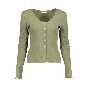 Pieces vest groen €24,99