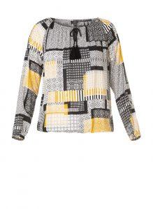 Yest blouse zwart geel €39,95