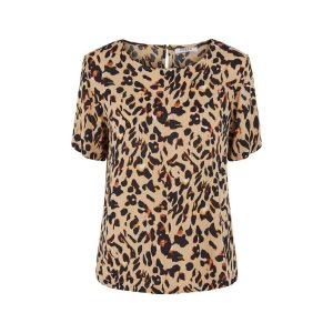 Pieces top leopard €24,99