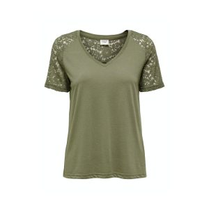 JDY lace top dusky green €14,99