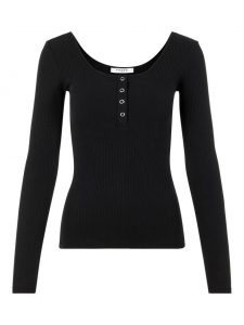 Pieces rib top black €19,99