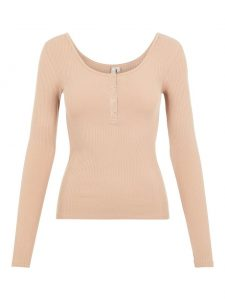 Pieces rib top natural €19,99