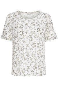 Fransa t-shirt wit met takjes dessin €29,99