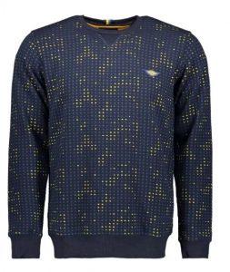 Gabbiano sweater blauw/geel geblokt €59,95