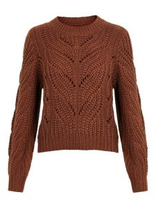 Pieces pullover rachel bruin €26,99