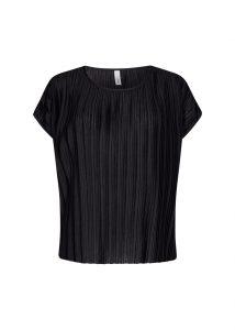 Soyaconcept t-shirt plisse zwart €19,99