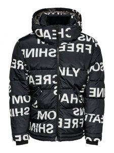 Only & Sons jas bedrukt zwart €79,99