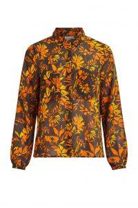 Vila blouse print oranje €39,99