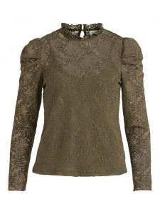 Vila kanten top ivy green €39,99